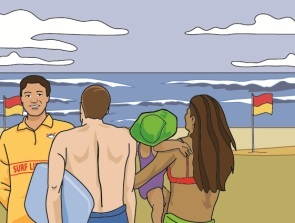 Ask a lifeguard for safety advice